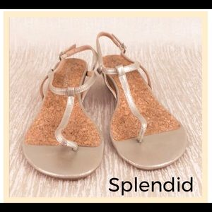 Splendid metallic gold sandals